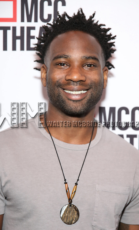 "W. Tré Davis attends the photo call for the cast and creative team of MCC Theater's New York Premiere of ""Seared"" on September 11, 2019 at Artesia Wine Bar in New York City."