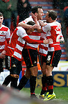 Doncaster Rovers v Sheffield Wednesday<br /> 22.3.2014<br /> Sky Bet League Championship<br /> Picture Shaun Flannery/Trevor Smith Photography<br /> Chris Brown celebrates his goal for Rovers.