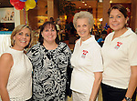 From left: Nichole Christoph, Mimi Zarenchansky, Lillian Jolliffe and Angle Johnson at the MD Anderson Back to School Fashion Show at The Galleria Saturday August 17, 2013.(Dave Rossman photo)