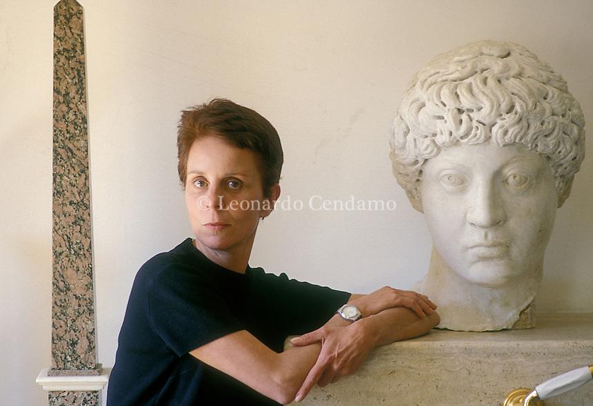 Rome, Italy, 1997. Gaia De Beaumont, Italian writer. © Leonardo Cendamo
