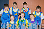 The Kilmurry team that competed in the Castleisland Garda basketball blitz in Castleisland Community Centre on Good Friday front row l-r: Katie Horan, Katie Flynn, Ellen Horan. Back row: Jason Horan, Kieran O'Donoghue, Alan O'Mahony and Jack McAulliffe.