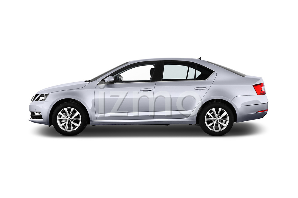 Car driver side profile view of a 2017 Skoda Octavia Ambition 5 Door Hatchback