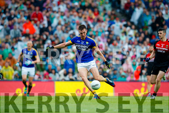 Jack Barry Kerry in action against  Mayo in the All Ireland Semi Final in Croke Park on Sunday.