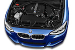High angle engine detail of a 2012 - 2014 BMW 1-Series 118d M Sport 3 Door Hatchback 2WD.