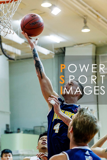 Bullen Christian Matthew #4 of Winling Basketball Club tries to score during the Hong Kong Basketball League game between Eagle and Winling at Southorn Stadium on May 4, 2018 in Hong Kong. Photo by Yu Chun Christopher Wong / Power Sport Images
