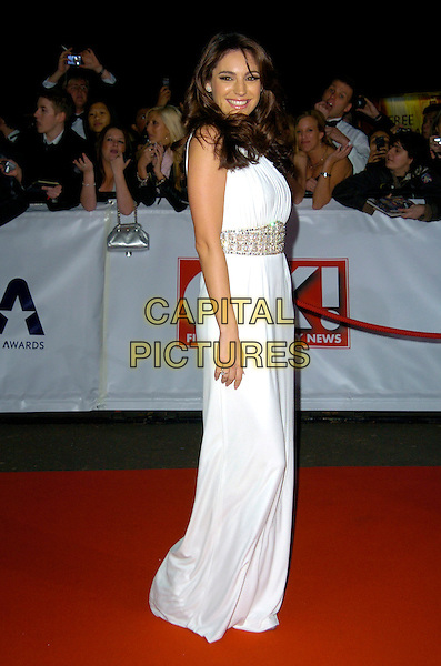 KELLY BROOK.The National Television Awards, Royal Albert Hall, .London, England, October 31st, 2007..TV NTA  full length long white dress.CAP/CAN.©Can Nguyen/Capital Pictures