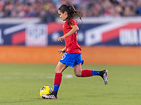 , FL - : Katherine Alvarado #16 of Costa Rica passes the ball during a game between  at  on ,  in , Florida.