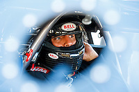 Sep 2, 2016; Clermont, IN, USA; NHRA pro mod driver Justin Shearer , also known as Big Chief from the Discovery Channel television show Street Outlaws during qualifying for the US Nationals at Lucas Oil Raceway. Mandatory Credit: Mark J. Rebilas-USA TODAY Sports