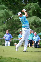 Bill Haas (USA) watches his tee shot on 9 during Friday's round 2 of the PGA Championship at the Quail Hollow Club in Charlotte, North Carolina. 8/11/2017.<br /> Picture: Golffile | Ken Murray<br /> <br /> <br /> All photo usage must carry mandatory copyright credit (&copy; Golffile | Ken Murray)