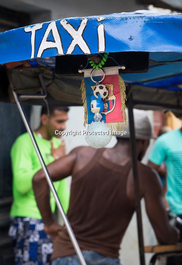 27/07/18<br /> <br /> Pedal powered rickshaw, Trinidad, Cuba.<br /> <br /> All Rights Reserved, F Stop Press Ltd. (0)1335 344240 +44 (0)7765 242650  www.fstoppress.com rod@fstoppress.com