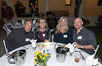 From left, Joe Ciasulli P'07 P'09, Shari Ciasulli P'07 P'09, Bridget Lambert and Rocky Ciasulli '07<br /> Now in his 30th year as Oxy's head men's basketball coach, Brian Newhall received a much deserved celebration with a surprise halftime ceremony and post game reception in the Booth Hall courtyard with more than 70 former and current players from all different generations and decades in attendance, on Saturday, Jan. 26, 2019.<br /> Newhall is the winningest coach in Oxy history and has a 100 percent graduation rate in his 30 years at the helm of the program. His resume boasts multiple SCIAC Championships and NCAA Playoff appearances, along with a run to the NCAA Division III Elite Eight in 2003 and the only perfect 14-0 season in SCIAC history. Newhall has not only coached at Oxy, but was a SCIAC Champion and SCIAC Player of the Year during his playing career at Oxy in the early 80s.<br /> (Photo by Marc Campos, Occidental College Photographer)