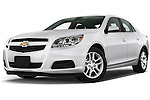 Low aggressive front three quarter view of a .2013 Chevrolet Malibu ECO 1SA