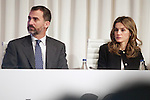 Spain's crown Prince Felipe de Borbon and Princess Letizia attend an award ceremony. October 31, 2012. (ALTERPHOTOS/Alvaro Hernandez)