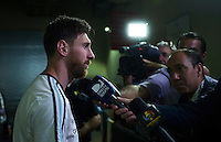 Foxborough, MA - Saturday June 18, 2016: Lionel Messi, Media during a Copa America Centenario quarterfinal match between Argentina (ARG) and Venezuela (VEN)  at Gillette Stadium.