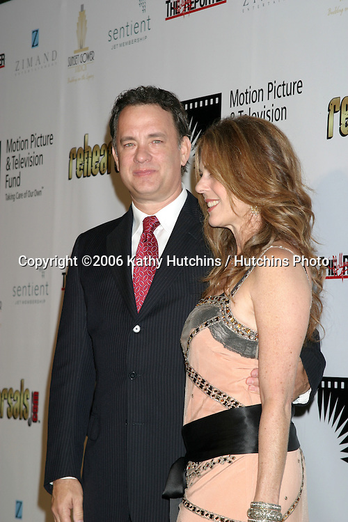 "Tom Hanks & Rita Wilson.""A Fine Romance"" To benefit the Motion Picture & Television Fund.Los Angeles, CA.November 18, 2006.©2006 Kathy Hutchins / Hutchins Photo...."