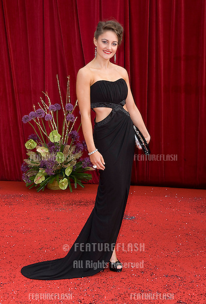 Paula Lane arrives for the 2011 Soap Awards held at Granada Studios in Manchester. 14/05/2011. Picture by Simon Burchell/Featureflash