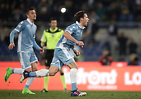 Calcio, Serie A: Lazio, Stadio Olimpico, 13 febbraio 2017.<br /> Lazio's Lucas Biglia celebrates after scoring a penalty during the Italian Serie A football match between Lazio and Milan at Roma's Olympic Stadium, on February 13, 2017.<br /> UPDATE IMAGES PRESS/Isabella Bonotto