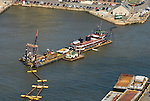 AErial view  of Norfolk Dredging at Pier 4 Philadelphia