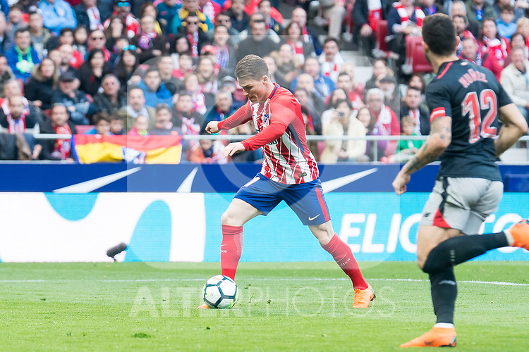 Atletico de Madrid Kevin Gameiro during La Liga match between Atletico de Madrid and Athletic Club and Wanda Metropolitano in Madrid , Spain. February 18, 2018. (ALTERPHOTOS/Borja B.Hojas)