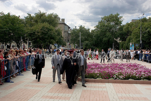 Domnesk, Ukraine.July 14, 2005 ..Ukrainian President Victor Yuschenko makes an official visit to Domnesk..