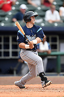 Corpus Christi Hooks outfielder Preston Tucker (33) at bat during a game against the NW Arkansas Naturals on May 26, 2014 at Arvest Ballpark in Springdale, Arkansas.  NW Arkansas defeated Corpus Christi 5-3.  (Mike Janes/Four Seam Images)