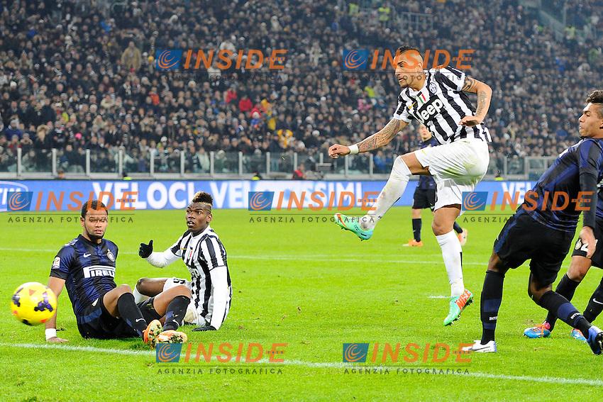 Gol di Arturo Vidal 3-0 Juventus. Goal celebration<br /> Torino 02-02-2014 Juventus Stadium - Football 2013/2014 Serie A. Juventus - Inter Foto Giuseppe Celeste / Insidefoto