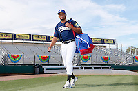 20 September 2012: Ernesto Martinez arrives on the field prior to Spain 8-0 win over France, at the 2012 World Baseball Classic Qualifier round, in Jupiter, Florida, USA.