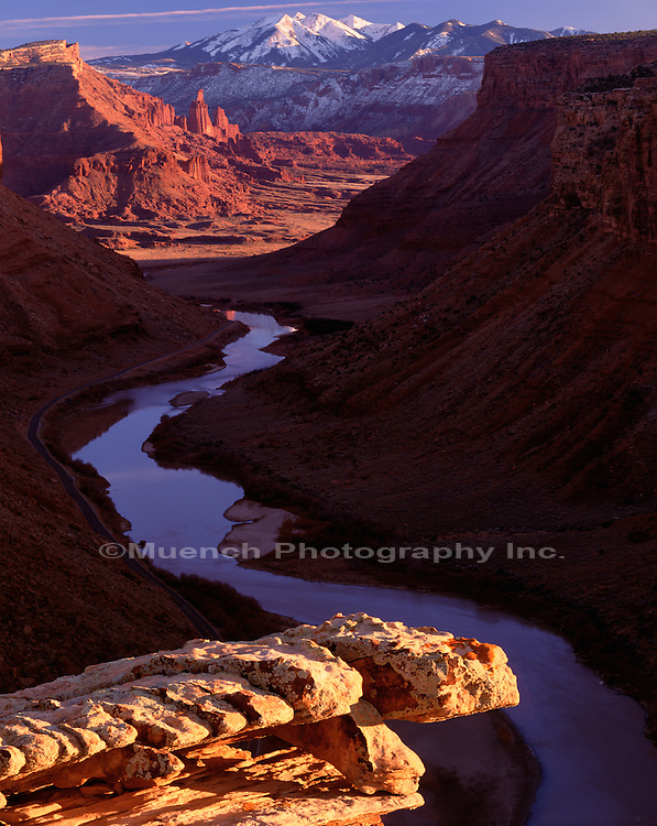 """Fisher Towers, Colorado River Canyon   UTAH, La Sal Mountains"