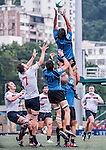 USA vs Uruguay during the Day 4 of the IRB Junior World Rugby Trophy 2014 at the Hong Kong Football Club on April 15, 2014 in Hong Kong, China. Photo by Xaume Olleros / Power Sport Images