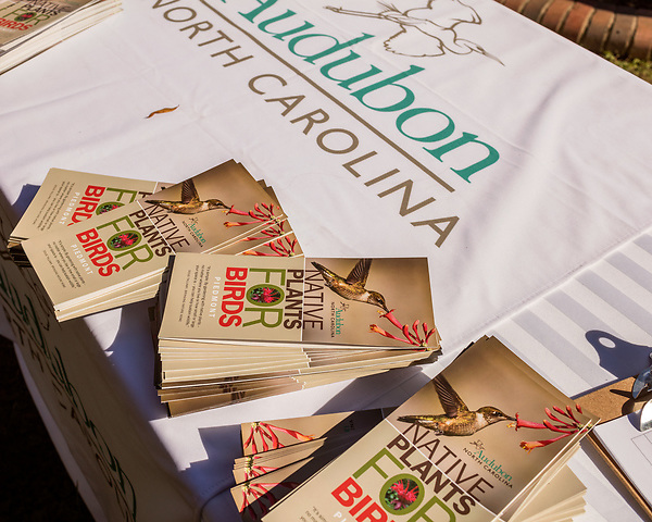 October 26, 2017. Raleigh, North Carolina.<br /> <br /> Information pamphlets for garden dedication attendees. <br /> <br /> A new garden designed by Ben Skelton containing native Plants For Birds was dedicated at the North Carolina Executive Mansion.