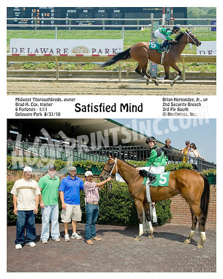 Satisfied Mind winning at Delaware Park on 8/31/10