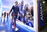 Jack Cork of Swansea City arrives before the Barclays Premier League match between Leicester City and Swansea City played at The King Power Stadium, Leicester on April 24th 2016