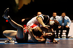 LA CROSSE, WI - MARCH 11: Robert Dierna of Cortland State tangles up with Logan Thomsen of Wartburg in the 157 weight class during NCAA Division III Men's Wrestling Championship held at the La Crosse Center on March 11, 2017 in La Crosse, Wisconsin. Dierna beat Thomsen 8-7 to win the National Championship. (Photo by Carlos Gonzalez/NCAA Photos via Getty Images)