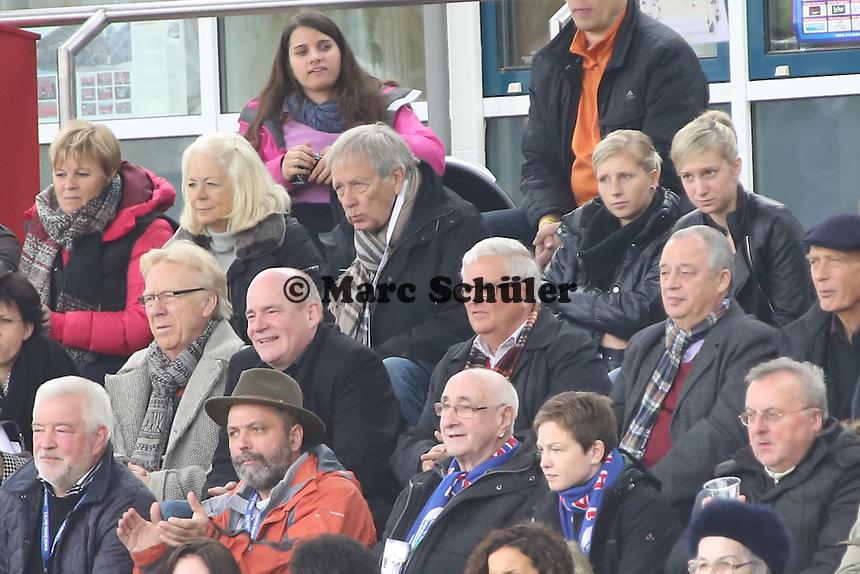 Dr. Theo ZWanziger mit FFC-Manager Siegfried Dietrich - 1. FFC Frankfurt vs. VfL Sindelfingen