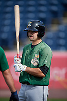 Clinton LumberKings catcher Ryan Scott (29) during batting practice before a game against the West Michigan Whitecaps on May 3, 2017 at Fifth Third Ballpark in Comstock Park, Michigan.  West Michigan defeated Clinton 3-2.  (Mike Janes/Four Seam Images)