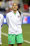 24 October 2014: Hope Solo (USA). The United States Women's National Team played the Mexico Women's National Team at PPL Park in Chester, Pennsylvania in a 2014 CONCACAF Women's Championship semifinal game, which serves as a qualifying tournament for the 2015 FIFA Women's World Cup in Canada. The United States won the game 3-0. With the victory the U.S. advanced to the championship game and qualified for next year's Women's World Cup.