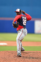 Washington Nationals pitcher Rafael Soriano (29) during a spring training game against the New York Mets on March 27, 2014 at Tradition Field in St. Lucie, Florida.  Washington defeated New York 4-0.  (Mike Janes/Four Seam Images)