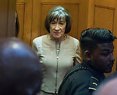 United States Senator Susan Collins (Republican of Maine) in the elevator after meeting reporters as she leaves the US Senate Chamber after delivering a speech in support of the candidacy of Judge Brett Kavanaugh to be Associate Justice of the US Supreme Court in the US Capitol in Washington, DC on Friday, October 5, 2018. <br /> Credit: Ron Sachs / CNP<br /> (RESTRICTION: NO New York or New Jersey Newspapers or newspapers within a 75 mile radius of New York City)