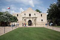 The Alamo, previously known as the Mission San Antonio de Valero.