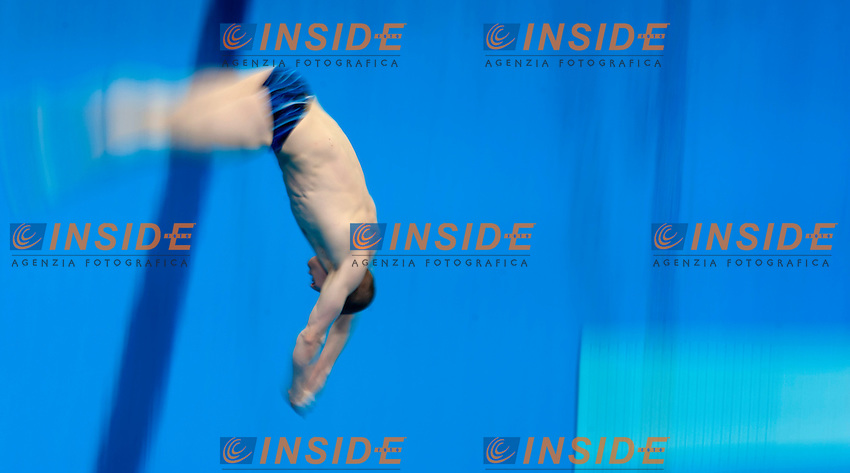 Evgenii NOVOSELOV RUS Russia <br /> 1m Springboard Men<br /> London, Queen Elizabeth II Olympic Park Pool <br /> LEN 2016 European Aquatics Elite Championships <br /> Diving  <br /> Day 02 10-05-2016<br /> Photo Andrea Staccioli/Deepbluemedia/Insidefoto