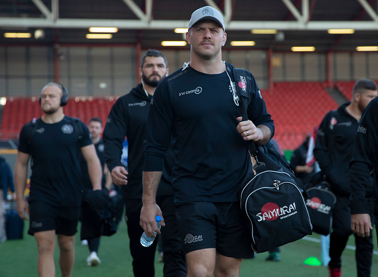 Exeter Chiefs' Jack Yeandle arrives at the ground<br /> <br /> Photographer Bob Bradford/CameraSport<br /> <br /> Gallagher Premiership Round 7 - Bristol Bears v Exeter Chiefs - Sunday 18th November 2018 - Ashton Gate - Bristol<br /> <br /> World Copyright © 2018 CameraSport. All rights reserved. 43 Linden Ave. Countesthorpe. Leicester. England. LE8 5PG - Tel: +44 (0) 116 277 4147 - admin@camerasport.com - www.camerasport.com