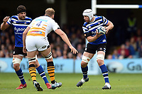 Dave Attwood of Bath Rugby in possession. Gallagher Premiership match, between Bath Rugby and Wasps on May 5, 2019 at the Recreation Ground in Bath, England. Photo by: Patrick Khachfe / Onside Images
