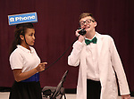 Aubrey E. Jones and Anthony Frederickson during the Children's Theatre of Cincinnati presentation for composer Charles Strouse of 'Superman The Musical' at Ripley Grier Studios on June 8, 2018 in New York City.