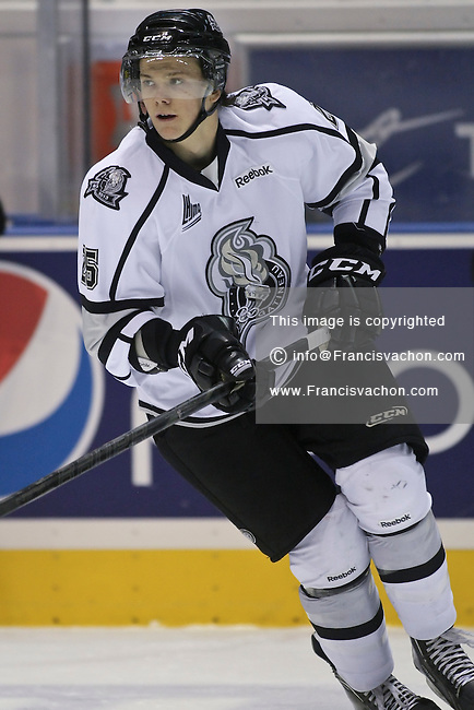 QMJHL (LHJMQ) hockey profile photo on Gatineau Olympiques Christopher King October 28, 2012 at the Colisee Pepsi in Quebec city.