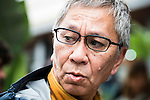 Japanese director Takashi Miike visit the festival with his work team preparing a new work in Spain during Festival de Cine Fantastico de Sitges in Barcelona. October 12, Spain. 2016. (ALTERPHOTOS/BorjaB.Hojas)