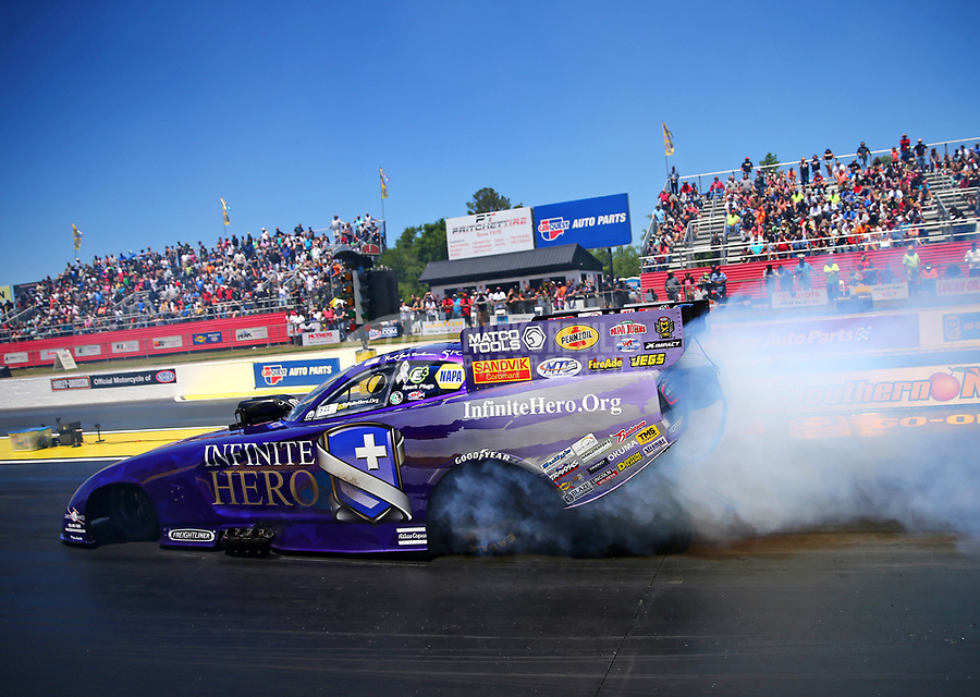 May 7, 2017; Commerce, GA, USA; NHRA funny car driver Jack Beckman during the Southern Nationals at Atlanta Dragway. Mandatory Credit: Mark J. Rebilas-USA TODAY Sports