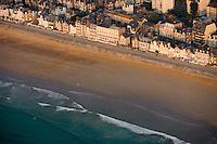 Europe/France/Bretagne/35/Ille et Vilaine/Saint-Malo: Vue aérienne de la plage du Sillon