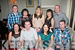 Eric Lehane, Connelly Pk, Tralee and Brenda Lehane, Bruach Na hAbhainn, Tralee (seated 2nd and 3rd from lt) celebrated their birthday's together with friends and family last Saturday night in Cassidy's, Tralee seated l-r: Elaine, Eric, Brenda and Bo Lehane. Back l-r: Phillip and Teresa Lehane, Angelina Moriarty, Anita Tobin with Johnny Moriarty.