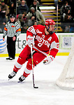 9 January 2011: Boston University Terrier defenseman David Warsofsky, a Junior from Marshfield, MA, in action against the University of Vermont Catamounts at Gutterson Fieldhouse in Burlington, Vermont. The Terriers defeated the Catamounts 4-2 in Hockey East play. Mandatory Credit: Ed Wolfstein Photo