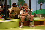 Chase Boholst, 10, reads a book while waiting for the start of the costume contest during the Boo-nanza event at the Carson City Library, in Carson City, Nev., on Tuesday, Oct. 30, 2018. <br /> Photo by Cathleen Allison/Nevada Momentum